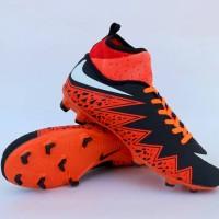 Sepatu Sepak Bola Nike Hypervenom High Hitam Oren Import