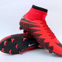 Sepatu Sepak Bola Nike Hypervenom High Merah Hitam Import