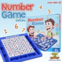 Mainan Number Game SUDOKU. Permainan Logika Matematika Belajar Anak