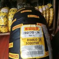 BAN SCOOTER tapak lebar Ukuran 150/70-14 merk PIRELLI DIABLO SCOOTER