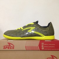Sepatu Futsal Specs Quark IN Olive Zest Green