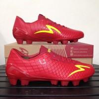 Sepatu Bola Specs Accelerator Exocet FG Dark Red