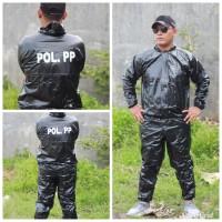 baju jaket olahraga sauna atau jas hujan pol pp satpol pp
