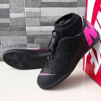 Sepatu Futsal Nike Mercurial X Vapor High Hitam List Pink Import