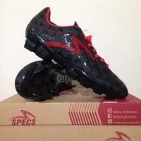 BESTSELLER!!! Sepatu Bola Specs Quark FG Black Emperor Red Original