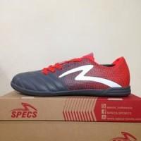 TERLARIS# Sepatu Futsal Specs Equinox IN Dark Granite Red Original