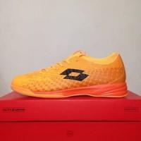 TERLARIS!! Sepatu Futsal Lotto Spark IN Beat Orange Black Original