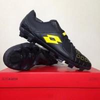 TERBARU!!!! Sepatu Bola Lotto Squadra FG Jet Black Sunshine Original