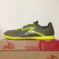 CATYCATZ | Sepatu Futsal Specs Quark IN Olive Zest Green Original
