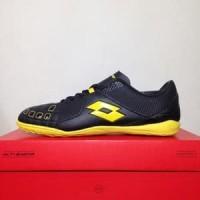 CATYCATZ!!!! Sepatu Futsal Lotto Squadra IN Black Sunshine Original