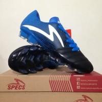 CATYCATZ!!!! Sepatu Bola Specs Equinox FG Black Tulip Blue Original