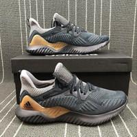 Sepatu Adidas Alphabounce Beyond Gold Black Premium Original