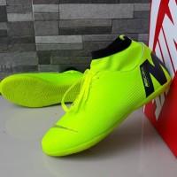 Sepatu Olahraga Futsal Nike Mercurial X Vapor High Hijau List Hitam