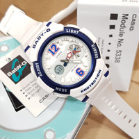 Jam Tangan Casio Wanita Baby-G BGA 210 / BGA210 White Ring Blue Ori bm