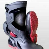 Sepatu AP Boots Moto 3 ~ Sepatu Motor Anti Air Sepatu Hujan Boot Moto3