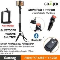 Paket Selfie Tongsis Bluetooth Yunteng YT-1288 + Tripod Kaki YT-228