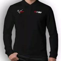 kaos baju polo shirt t shirt lengan panjang black marquez moto gp