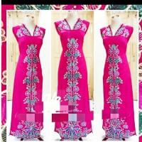 abaya / dress / bordiran / Bukittinggi / kain bakal baju / kain bordir