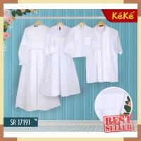 (Gamis dan Koko Dewasa) Baju Putih Keke Sarimbit Couple Keluarga