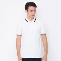 VM Kaos Polo Shirt Polos Pendek Putih