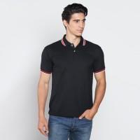 VM Kaos Polo Shirt Hitam Tangan Pendek