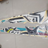 Stiker Bodi & Lis Body &Striping Mio J Teen 2013 Putih Biru Telor Asin