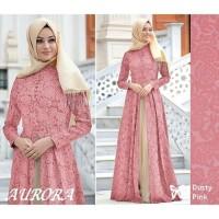 Baju Gamis Syari Muslim Wanita - AURORA MAXI BALOTELI EMBOS Murah