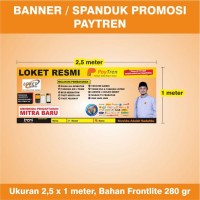 Banner / Spanduk Loket Resmi Agen Paytren Orange - ver. 2 - 2,5 x 1 m