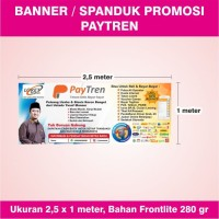 Banner / Spanduk Loket Resmi Agen Paytren Biru - ver. 3 - 2,5 x 1 m