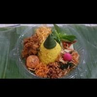 nasi tumpeng kuning mini/ nasi uduk/ nasi hainam box
