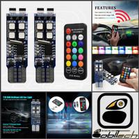 Lampu Led T10 RGB W5W 10-3535 RF Wireless