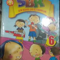Buku SBK seni budaya dan keterampilan kls 6 sd penerbit Yudistira KTSP