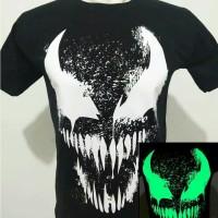 Kaos baju tshirt venom glow in the dark