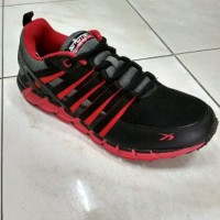 sepatu running spotec storm blk red Limited