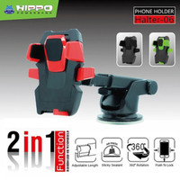 Hippo Halter 06 2 in 1 Universal Mount Car Holder Mobil - Green