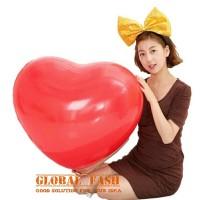 Balon latex hati jumbo MERAH/ balon latex love/ balon latex jumbo