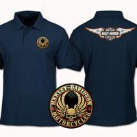Kaos Polo Shirt / Baju Kerah Motor Harley Davidson Cycles size S-XXL