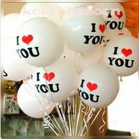 Balon latex bulat i love you/balon anniversary/balon lamaran tunangan