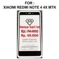 Xiaomi Redmi Note 4 4X Mediatek anti gores kaca 4D TEMPERED GLASS 5D