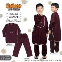 Baju Muslim Koko Lengan Panjang Set Celana Bahan Katun Versus Thaluna