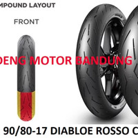 Pirelli 90 80-17 Diablo Rosso Corsa II Ban Tubeless Soft Compound Moto