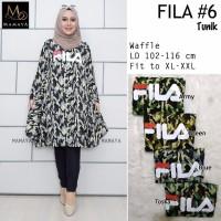 Baju wanita blouse tunik fila#6 muslim modern unik modis lucu trendi