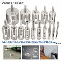 Mata Bor Kaca Keramik - Diamond Holesaw Hss Hole Saw Set 16Pcs