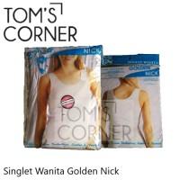 Singlet Wanita Golden Nick   ketat   non renda   panjang   kaos dalam