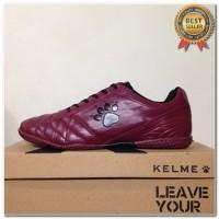 Produk 38 Sepatu Futsal Kelme Power Grip Maroon Black 1102130 Original