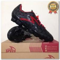 Produk 38 Sepatu Bola Specs Quark FG Black Emperor Red 100756 Original