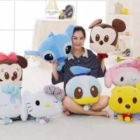 Boneka Selimut Bonmut Tsum Pooh Melody Stitch dll Impor/ Balmut Tsum