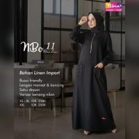 Baju Gamis wanita terbaru Gamis Syari Busui Bahan Linen Ori Nibras