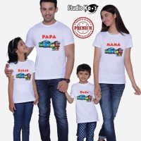 Kaos Keluarga/ Baju Family (2 anak dan 2 dewasa) Design Tayo