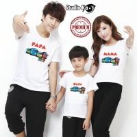 Kaos Keluarga / Baju Family (2 dewasa dan 1 anak) Design Tayo